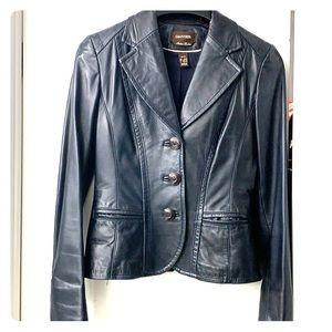 Danier Italian lamb leather blazer